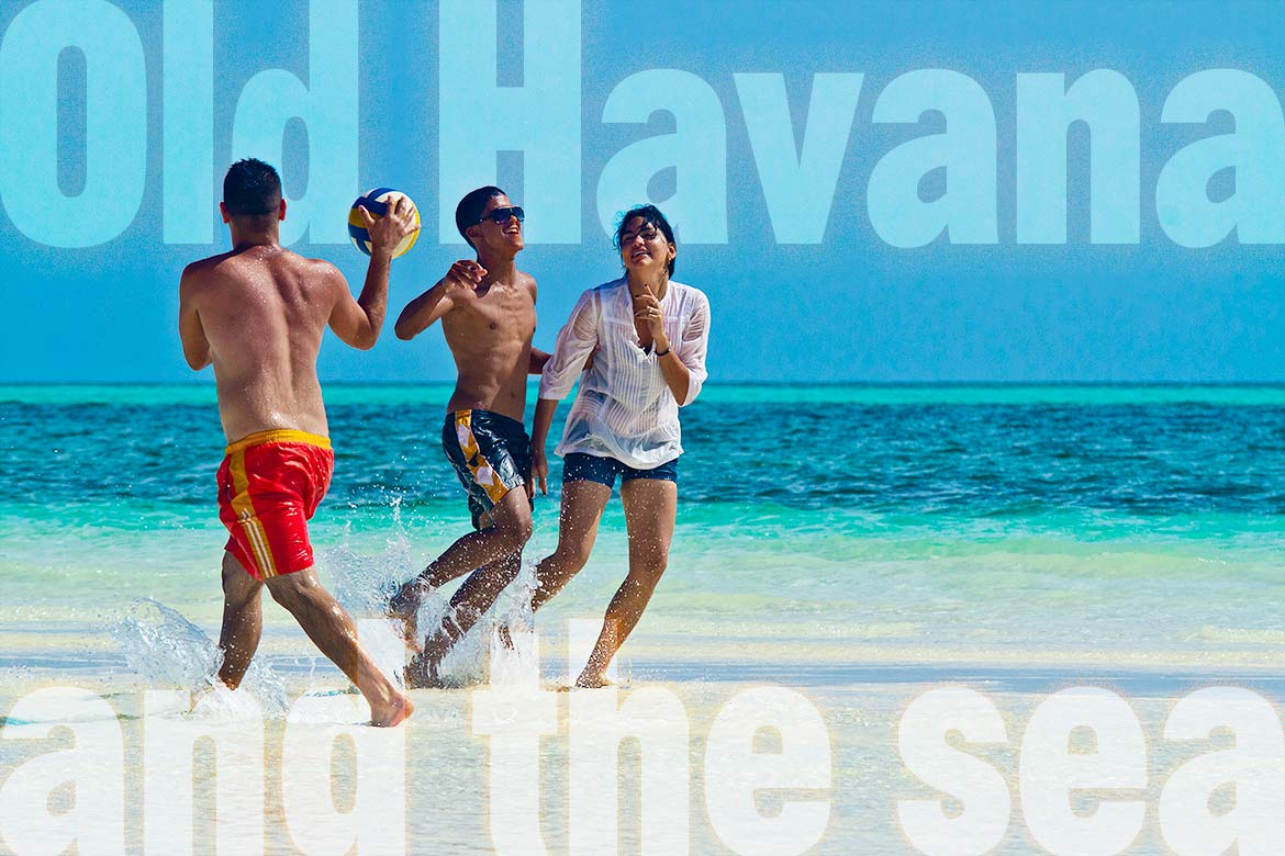 Cuban youth play on Varadero beach.